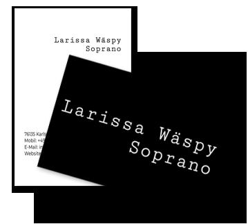 Referenz Larissa Wäspy Soprano